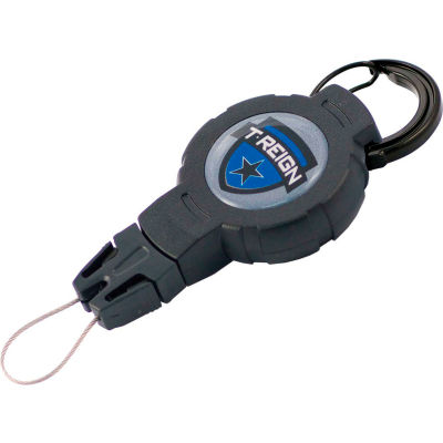 "T-Reign Fishing Retractable Gear Tether 0TR2-209 - Medium 36""Extention Black Carabiner"
