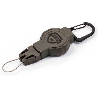"""T-Reign Hunting Retractable Gear Tether 0TRG-211 - Small 24""""Extention OD Green Carabiner"""