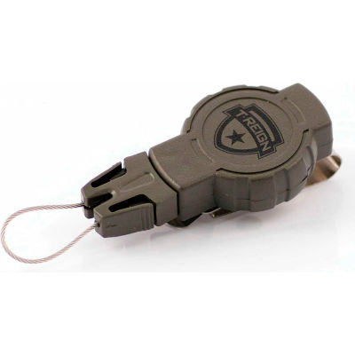 """T-Reign Hunting Retractable Gear Tether 0TRG-212 - Small 24""""Extention OD Green Belt Clip"""