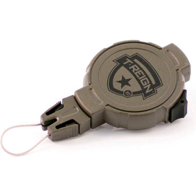 """T-Reign Hunting Retractable Gear Tether 0TRG-242 - Xtreme Duty 36""""Extention OD Green Belt Clip"""