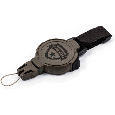 """T-Reign Hunting Retractable Gear Tether 0TRG-243 - Xtreme Duty 36"""" OD Green VELCRO®Brand Strap"""