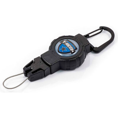"""T-Reign Fishing Retractable Gear Tether 0TRG-311 - Small 24""""Extention Black Carabiner"""