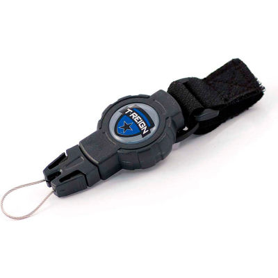 """T-Reign Fishing Retractable Gear Tether 0TRG-313 - Small 24""""Extention Black VELCRO®Brand Strap"""