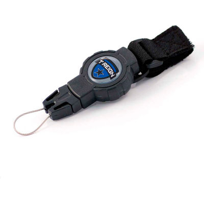 """T-Reign Outdoor Retractable Gear Tether 0TRG-413 - Small 24""""Extention Black VELCRO®Brand Strap"""