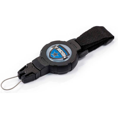 """T-Reign Outdoor Retractable Gear Tether 0TRG-423 - Medium 36""""Extention Black VELCRO®Brand Strap"""