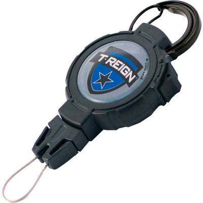 """T-Reign Outdoor Retractable Gear Tether 0TRG-431 - Large 48""""Extention Black Carabiner"""