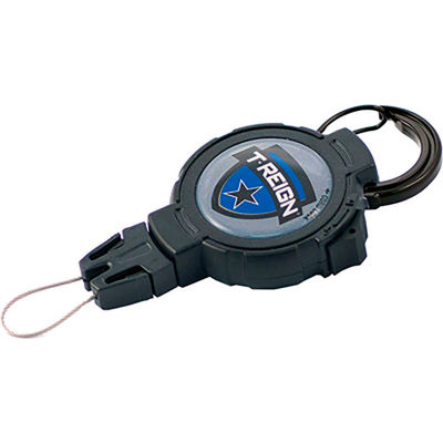 """T-Reign Outdoor Retractable Gear Tether 0TRG-441 - Xtreme Duty 36""""Extention Black Carabiner"""