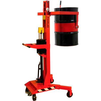 Wesco® Manual Drum Lift & Tilter 240128 High Reach for 55 Gallon Drums - 800 Lb. Capacity
