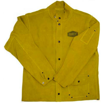 "Ironcat 30"" Leather Jacket, Golden Yellow, L, All Leather"