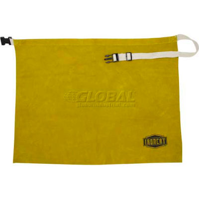 """Ironcat Leather Waist Apron, Golden Yellow, 24"""" W x 18"""" L, All Leather"""