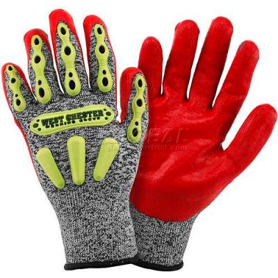 R2 FLX Knuckle Protection Gloves 713SNTPRG/M, Red, Medium - Pkg Qty 12