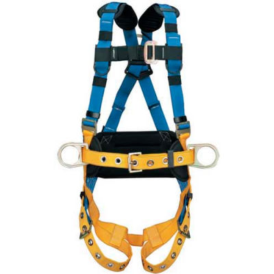 Werner® H332102 LITEFIT™ Construction Harness, Tongue Buckle Legs, Medium/Large