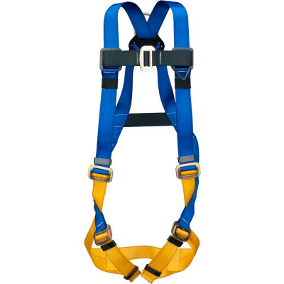 Werner® H411002xC111000 BaseWear Standard Harness with Attached 6' DeCoil Lanyard