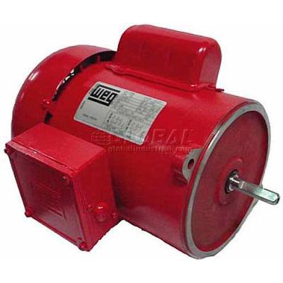 WEG Farm Duty Motor, 00118ES1RADD56N, 1 HP, 1800 RPM, 115/230 Volts, TEFC, 1 PH