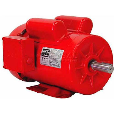 WEG Farm Duty Motor, 00118ES1RFD143T, 1 HP, 1800 RPM, 115/230 Volts, TEFC, 1 PH