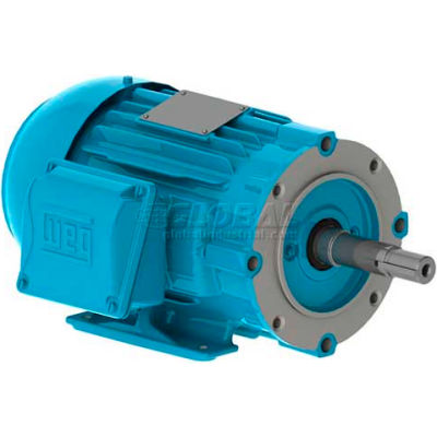 WEG Close-Coupled Pump Motor-Type JP, 00118ET3E143JP-W22, 1 HP, 1800 RPM, 208-230/460 V, TEFC, 3 PH