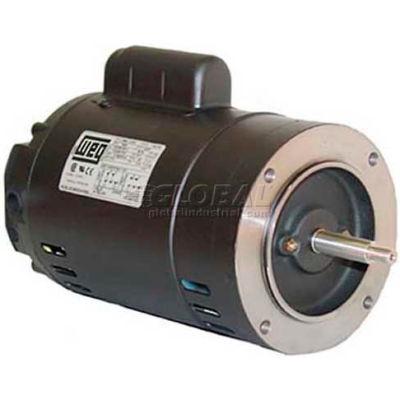 WEG Jet Pump Motor, 00136OS1BJPR56C, 1 HP, 3600 RPM, 115/208-230 Volts, ODP, 1 PH