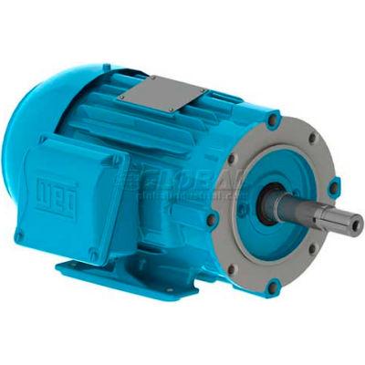 WEG Close-Coupled Pump Motor-Type JM, 00156EP3E143JM-W22, 1.5 HP, 3600 RPM, 230/460 V, TEFC, 3 PH