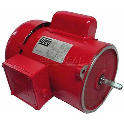 WEG Farm Duty Motor, 00158ES1RADF56N, 1.5 HP, 1800 RPM, 115/230 Volts, TEFC, 1 PH