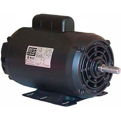 WEG Compressor Duty Motor, 00158OT3ECD145T, 1.5 HP, 1800 RPM, 208-230/460 Volts, ODP, 3 PH
