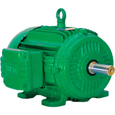 WEG Cooling Tower Motor, 00212ET3PCT184T, 2 HP, 1200 RPM, 200 Volts, 3 Phase, TEFC
