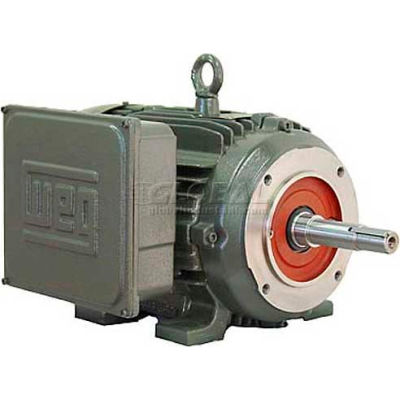 WEG Close-Coupled Pump Motor-Type JM, 00236ES1E145JM, 2 HP, 3600 RPM, 208-230/460 V, TEFC, 1 PH