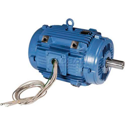 WEG Pad Mount Motor, 00318ET3EPM182/4Y, 3 HP, 1800 RPM, 208-230/460 Volts, 3 Phase, TEAO