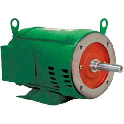 WEG Close-Coupled Pump Motor-Type JM, 01018OT3E215JM, 10 HP, 1800 RPM, 208-230/460 V, ODP, 3 PH