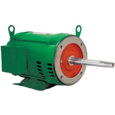 WEG Close-Coupled Pump Motor-Type JP, 02018OT3E256JP, 20 HP, 1800 RPM, 208-230/460 V, ODP, 3 PH