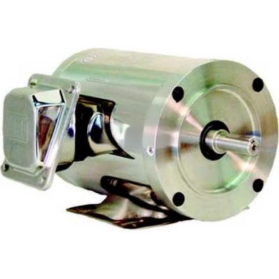 WEG SHARK™ Wash Down Duty, .7536EP3ESS56CFL, 0.75 HP, 3600 RPM, 208-230/460 Volts, TEFC, 3 PH