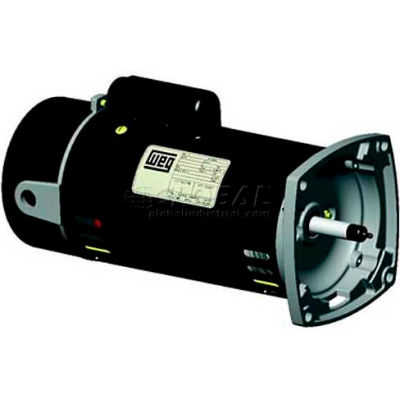 WEG Pool & Spa Motor, PCQ110H, 1 HP, 3600 RPM, 115/230 Volts, ODP, 1 PH