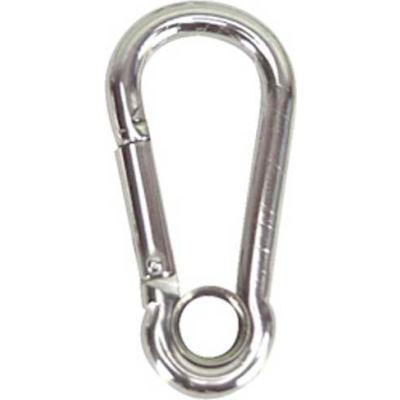 """Whitecap 7/16"""" Eye Carabiner Snap w/ Ring, Stainless Steel - S-1112"""
