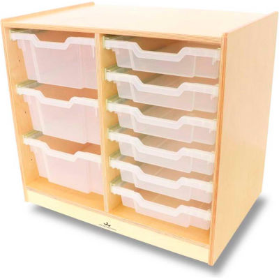 Whitney Brothers Clear Tray Double Storage Cabinet