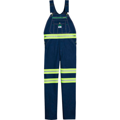 Dickies Liberty® Reflective Stripe Bib Overall 18T007DY9, Hi-Vis Yellow, Size 44-34