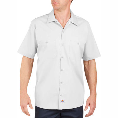 Dickies® Men's Short Sleeve Industrial Work Shirt, 3T White - LS535WH