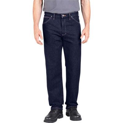 Dickies® Men's Industrial Relaxed Fit Denim Jeans, 34x30 Rinsed Indigo Blue - CR393RNB
