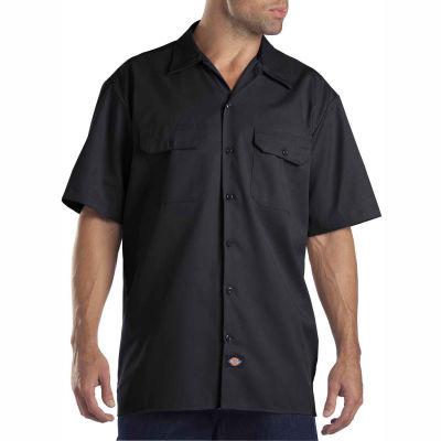 Dickies® Men's Short Sleeve Work Shirt, M Black - 1574BK