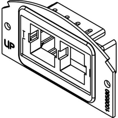 Wiremold 682a Poke-Thru 1/2 Gang 2a Communication Plate - Pkg Qty 5