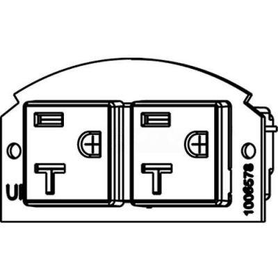 Wiremold 68REC-25 Poke-Thru 1/2-Gang 20A Duplex Receptacle