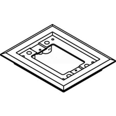 Wiremold 817pcc-Blk Floor Box 1-Gang Carpet Flange, Black - Pkg Qty 10