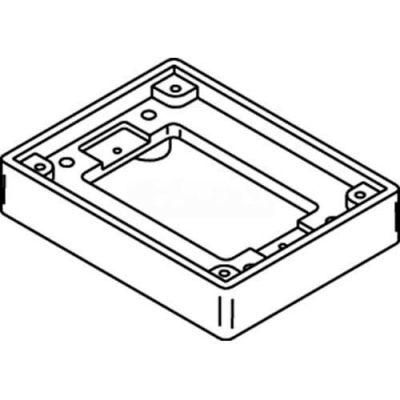 Wiremold 817t Floor Box 1-Gang Tile Flange, Brass - Pkg Qty 5
