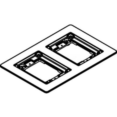 Wiremold 827b Floor Box 2-Gang Combination Carpet & Tile Flange, Brass - Pkg Qty 5