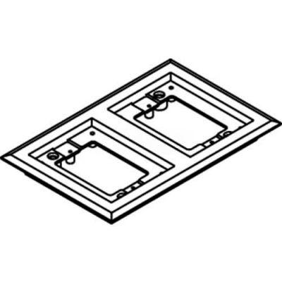 Wiremold 827pcc-Blk Floor Box 2-Gang Carpet Flange, Black - Pkg Qty 15