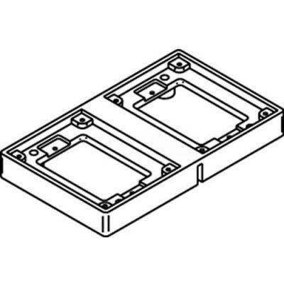 Wiremold 827t Floor Box 2-Gang Tile Flange, Brass - Pkg Qty 5