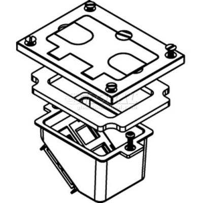 Wiremold 828comtcal Floor Bx Cvr. Kit To Allow Recessing Comm Devices, Brushed Alum. - Pkg Qty 5
