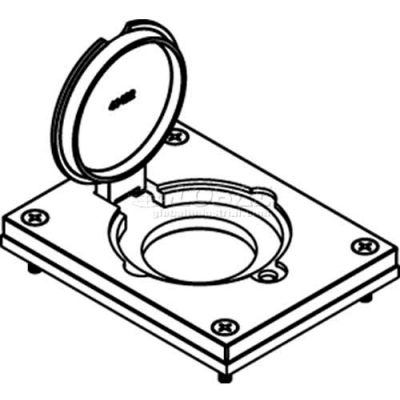Wiremold 828dlr Floor Box Cover w/ Single Flip Lid, For 20a/30a Single Receptacle, Brass - Pkg Qty 10