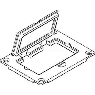 Wiremold 828gfitc Floor Box Gfi/Decorator Receptacle Cover, Brass - Pkg Qty 10
