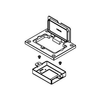 Wiremold 828MAAP Floor Box Device Bracket For Extron MAAP Devices