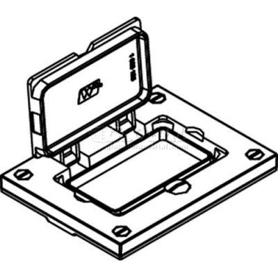 Wiremold 828prgfi-Blk Floor Box Gfi Rceptacle Cover, Black, Flip Lid - Pkg Qty 10