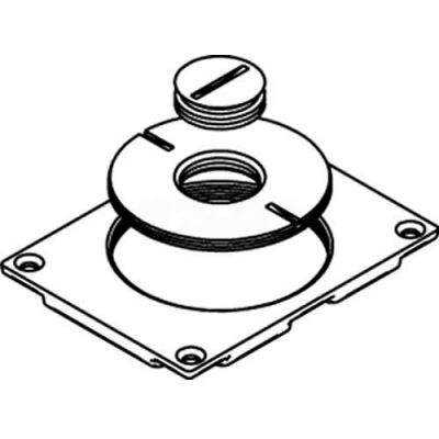 """Wiremold 829ck-3/4 Floor Box Communication Cover, 2-5/8"""" & 3/4"""" Plugs, Brass - Pkg Qty 10"""